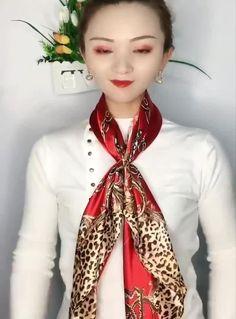 Ways To Tie Scarves, Ways To Wear A Scarf, How To Wear Scarves, Scarf Knots, Diy Scarf, How To Fold Scarf, Fashion 90s, Fashion Scarves, Head Scarf Tying