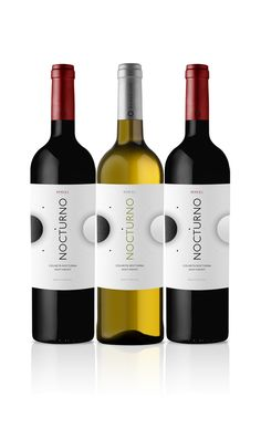 Nocturno Wines - Night Harvest by Miguel Batista, via Behance