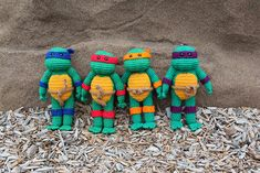 Ravelry: Teenage Mutant Ninja Turtle pattern by Nichole's Nerdy Knots