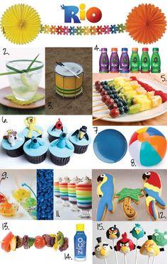 Maybe a summer rio party. Rio Party, Party Time, Movie Party, Film Rio, Rio Movie, Rio Birthday Parties, 2nd Birthday, Birthday Ideas, Kid Parties