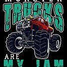 Monster Trucks Are My Jam by teebazaar Monster Truck Jam, Big Trucks, Cool T Shirts, Hoodies, Sweatshirts, Parka, Hoodie, Hooded Sweatshirts, Big Rig Trucks