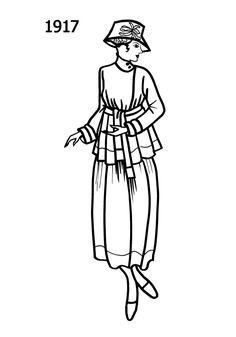 Costume Silhouettes: 1917