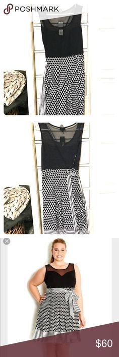 City Chic Dress City Chic Dress, black and white.  Cute for spring or summer. City Chic Dresses