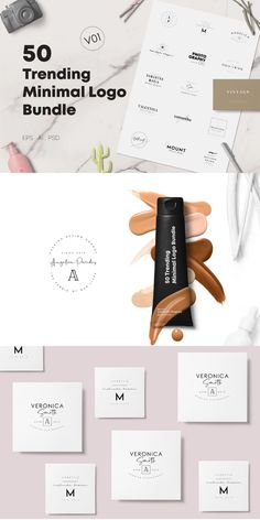 The new 50 Trending Minimal Logo Bundle V01 is a collection of premium, modern and professional logos for your perfect branding. #AffiliateLink Minimal Logo, Professional Logo, Logo Design Template, Minimalism, Branding, Templates, Logos, Brand Management, Stencils