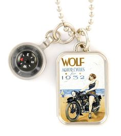Wolf Motorcycles necklace
