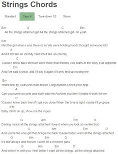 Strings Chords Shawn Mendes Capo 4 | Shawn Mendes | Pinterest ...