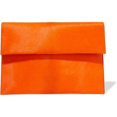 Marni Calf hair clutch (4.710 ARS) ❤ liked on Polyvore featuring bags, handbags, clutches, bright orange, pony hair handbags, marni purse, pony hair purse, calf hair handbags and orange clutches