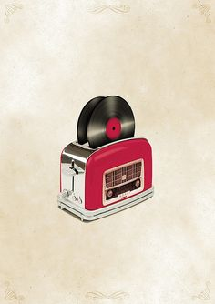 Music Toaster, now if only they could make a waffle iron record player....