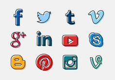 63 Fantastic Free Social Media Icons Sets For Your Website Social Media Games, Social Media Calendar, Social Media Quotes, Social Icons, Social Media Banner, Social Media Logos, Social Media Template, Social Media Graphics, Icon Set