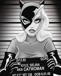 Catwoman Mugshot - Ilustraciones T Shirts - Gatos Catwoman Comic, Catwoman Cosplay, Batman And Catwoman, Batman Art, Joker Joker, Harley Quenn, Catwoman Selina Kyle, National Cat Day, Gotham Girls