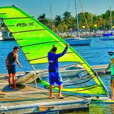 Stuck inside on cold day? Why not set #sail on an unexpected journey. #journeytohealth #artphotography #windsurfing #miami