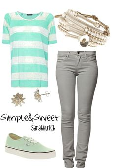 SImple & Sweet, created by shutch1996 on Polyvore