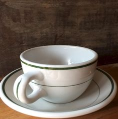 Shenango Heavy Coffee Cup and Saucer with by putnamandspeedwell