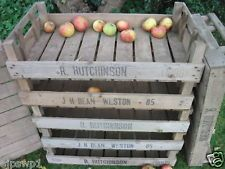 8 LARGE VINTAGE APPLE FARM CRATES POTATO WOODEN TRAY PINE BOXES DISPLY