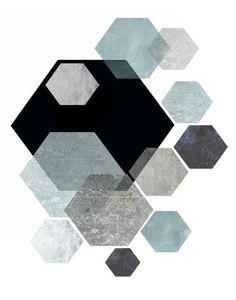 Hexagon print idea Cheap Home Decor Online, Affordable Wall Art, Geometric Wall Art, Poster Prints, Art Prints, Minimalist Art, Pattern Art, Printable Wall Art, Inspiration
