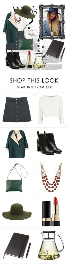 """#coldday"" by jannesparks ❤ liked on Polyvore featuring MANGO, Chicnova Fashion, Stephane Kélian, CÉLINE, Lucky Brand, Dolce&Gabbana and Moleskine"