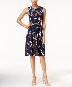 Charter Club Floral-Print Fit & Flare Dress, Only at Macy's $79.99 Whether you're aiming for a professional or off-day look, Charter Club's fit & flare dress is the right choice.