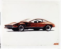 1974 Mustang II Design Sketch - from the gallery: Design History - Drawings and Renders