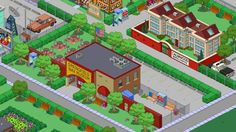 Springfield Simpsons, Springfield Tapped Out, The Simpsons Game, Layout Inspiration, Fingers, Adventure, Games, House Styles, Terraria