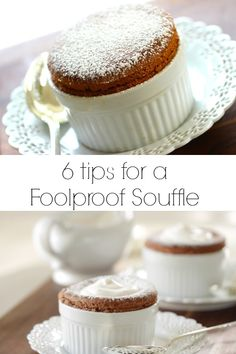 Skip the crowded and over-prices restaurants on Valentine's Day and tackle a chocolate souffle at home! The best part about this easy chocolate souffle is that most of it can be made ahead time! Tolle Desserts, Köstliche Desserts, Great Desserts, Delicious Desserts, Dessert Recipes, Yummy Food, Dessert Healthy, Plated Desserts, Bon Dessert