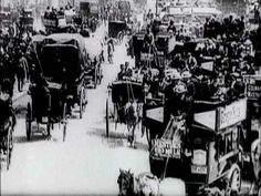 London 1896 ,I am fascinated by the mix of automobiles and horse drawn vehicles. Even some double-decker 'busses'. Victorian London, Vintage London, Old London, Historical Fiction, Historical Photos, Old Photos, Vintage Photos, Traffic Congestion, London Pictures