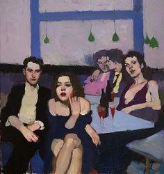 "Milt Kobayashi   ""Blues"", oil on canvas, Galleries in Carmel California - Jones & Terwilliger"