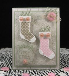 Splitcoaststampers FOOGallery - Stitch and Button Stockings