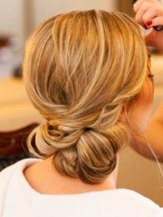 Twisted chignon bride do