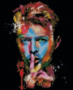 David Bowie Abstract  Counted Needle Point by PaulaHowardPatterns, $18.00