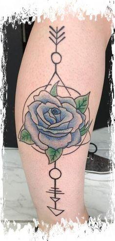 Geometrische Spielart mit Rose