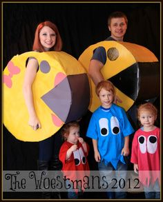 This will happen at some point when we have children....Pacman | 32 Family Halloween Costumes That Will Make You Want To Have Kids