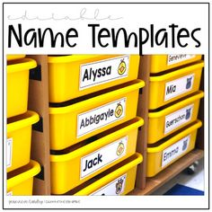 This year, I'm labeling all the things: individual bins, math tool kits, desks, chairs ..you get the picture! If you're like me, you'll definitely want to download these editable name templates featuring the cutest four animals: a chick, a hippopotamus, a girafe and a guinea pig I recommend printing... Math Tools, Hippopotamus, Classroom Management, Desks, Card Stock, Chairs, Printing, Names, Templates