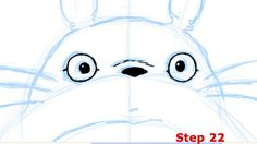 How to draw Totoro Step 22
