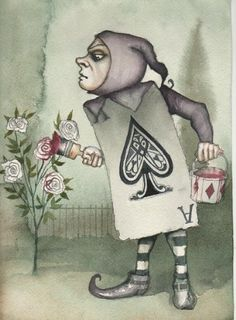 *CARD SOLDIER ~ Alice in Wonderland..... painting the roses red