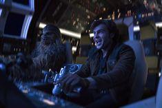 Alden Ehrenreich and Joonas Suotamo in Solo: A Star Wars Story (2018)