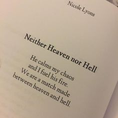 """235 Likes, 6 Comments - Nicole Lyons (@nicolelyonspoetry) on Instagram: """"He calms my chaos and I fuel his fire. . Grab your copy of Hush through Amazon, Barnes & Noble, or…"""""""