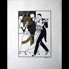 George Barbier - La Danse, tiré à part pour Modes et Manières d'Aujourd'hui (1914)