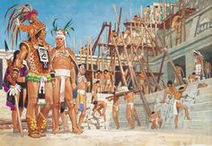 """""""All trades are placed together on the Mayan site of Palenque for the building of the palace, around 800,"""" Pierre Joubert"""