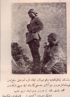 """A page from a magazine named """" donanma """" published during reads """" Colonel Mustafa Kemal and Mehmet Arif , one of the high official Entourages """" Turkish Soldiers, Turkish Army, Gallipoli Campaign, Michael Faraday, Last Battle, Cultural Identity, World War One, World Peace, Ottoman Empire"""