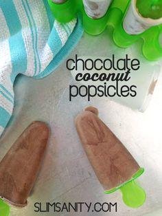 Chocolate Coconut Popsicles
