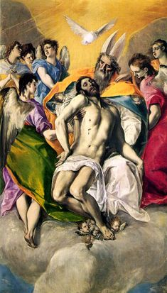 The Holy Trinity by El Greco, Museo del Prado, Madrid, 1577.