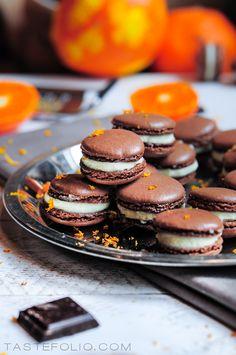 Chocolate Macarons #