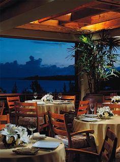 The Banyan Tree terrace at the Ritz-Carlton in Kapalua, Maui
