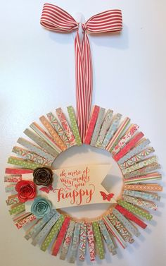 Stampin' Up Clothespin Wreath