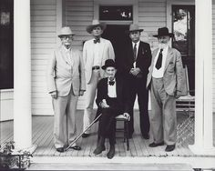 Five legendary Texas Ranger Captains in Austin, 1932. Seated: Captain Dan Roberts. Standing L to R: Captain J. A. Brooks, Adjutant General W. W. Sterling, former Ranger Captain Frank A Hamer and Captain John R. Hughes. You can Google any of these heroic men to find out more about them. Hamer didn't know it at the time this was taken, but about four years later he would shoot and kill Bonnie and Clyde.