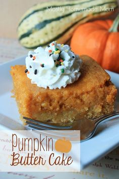 Mostly Homemade Mom: Pumpkin Butter Cake I had a friend make this with sweet potatoes instead - yum!