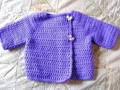 Easy Print PDF:   Kelly's Sweater 6-9M         Simply Soft yarn, size G7 hook  Size ( to make larger use a larger hook)          edited ...