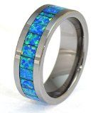 Almost Forever Jewelry Synthetic Opal Tungsten Carbide Ring with Blue and Slight Green Fire Inlays Womens Jewelry Rings, Women Jewelry, Green Fire, Blue Green, Buy Rings, Silver Ring Designs, Gold And Silver Rings, Tungsten Carbide Rings, Selling Jewelry
