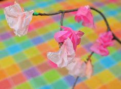 cherry blossoms kids' craft idea