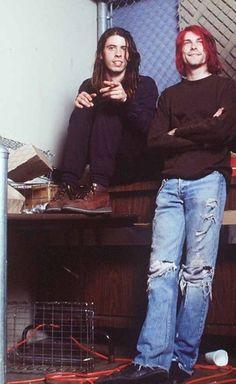 Kurt and Dave 90's grunge
